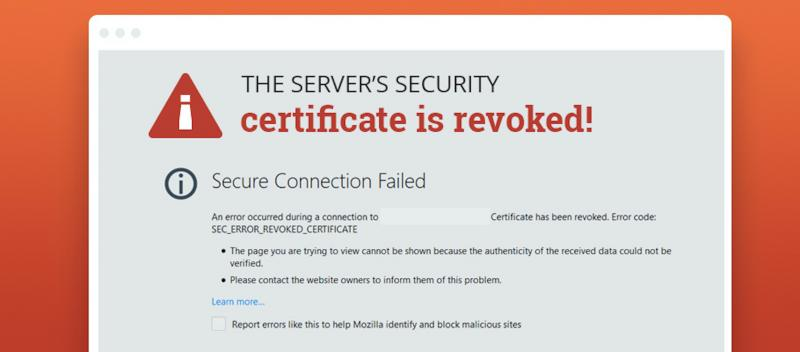 Picture of expiring root certificate