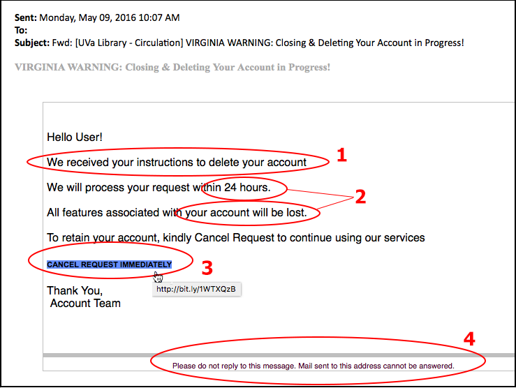 Examples of Phishing and Scam Emails | Information Security